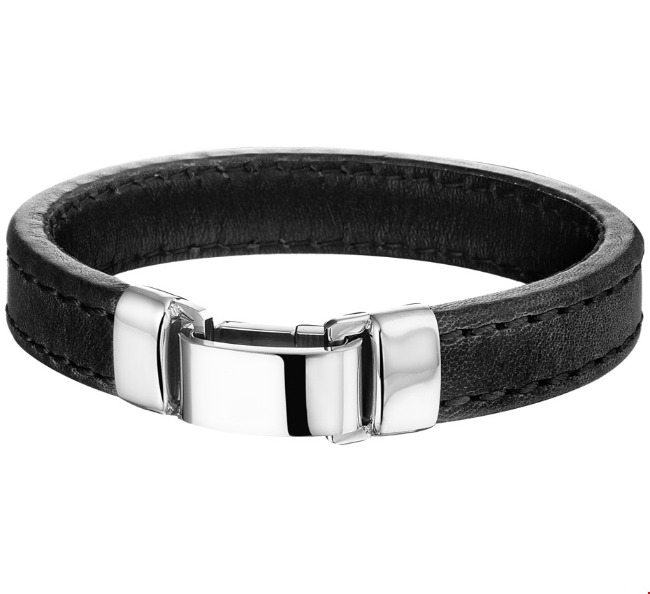 TFT Armband Staal Leer 14mm 19 cm
