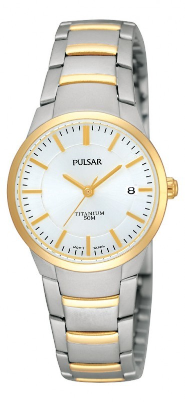 Pulsar PH7128X1 Dameshorloge titanium Bicolor 26 mm