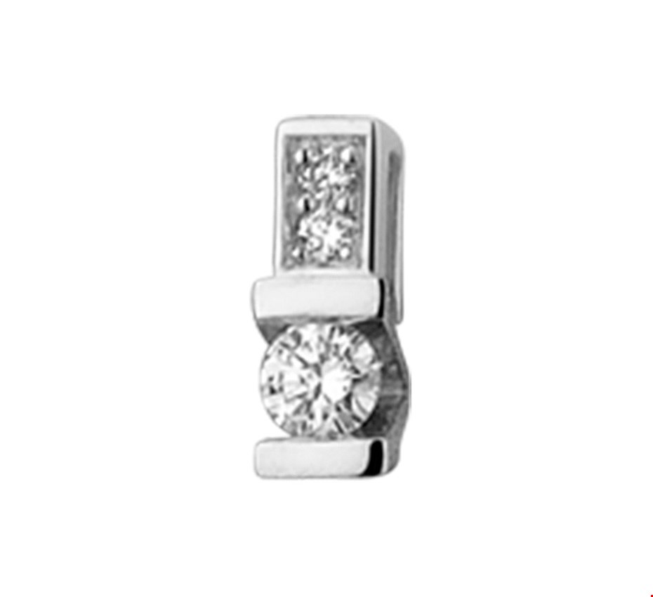 TFT Hanger Witgoud Diamant 0.06 Ct.