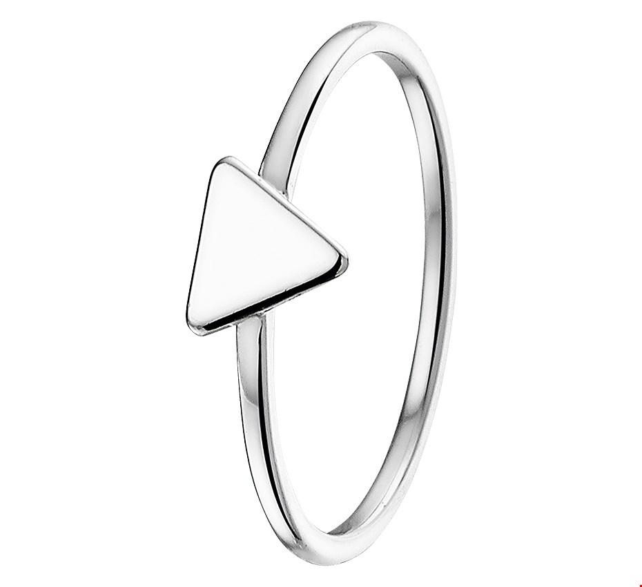 TFT Ring Driehoek Zilver Gerhodineerd