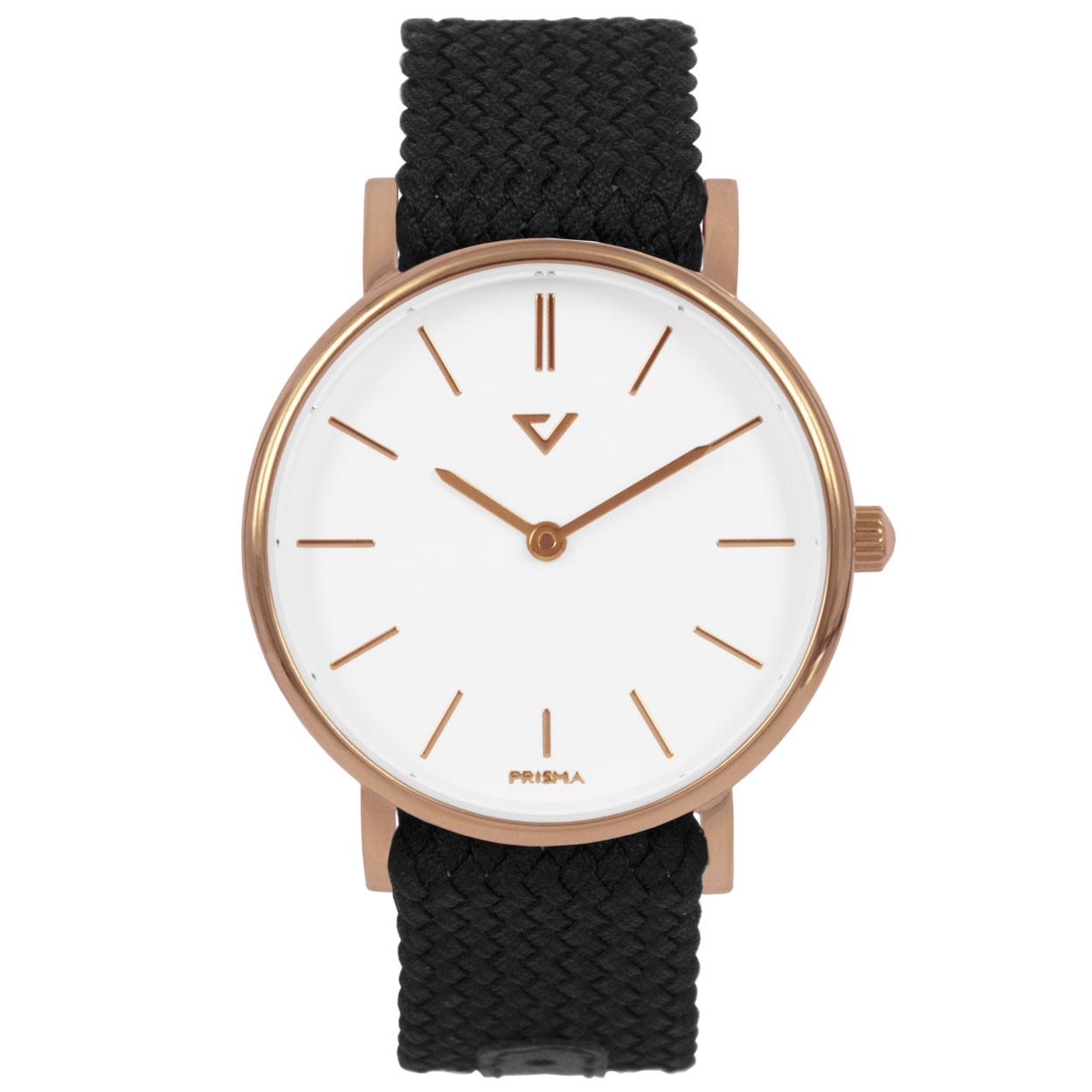 Prisma horloge P.1629.WG26 Lederen band Rose goud