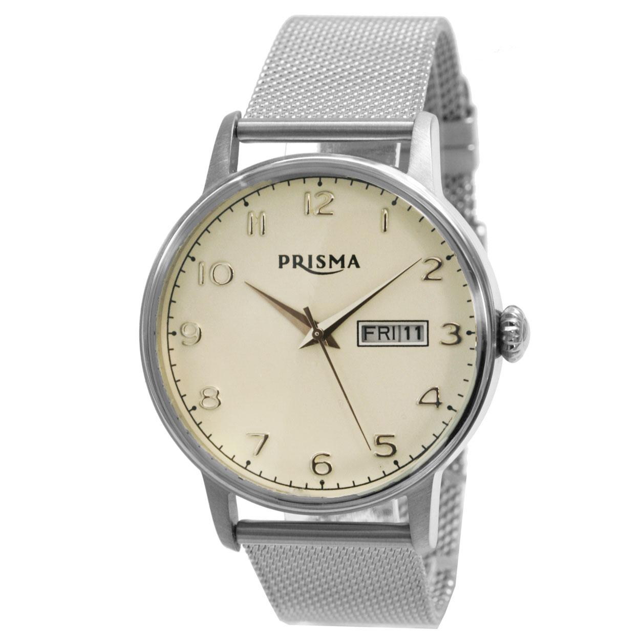 Prisma Herenhorloge P.2799A Lederen band Zilver