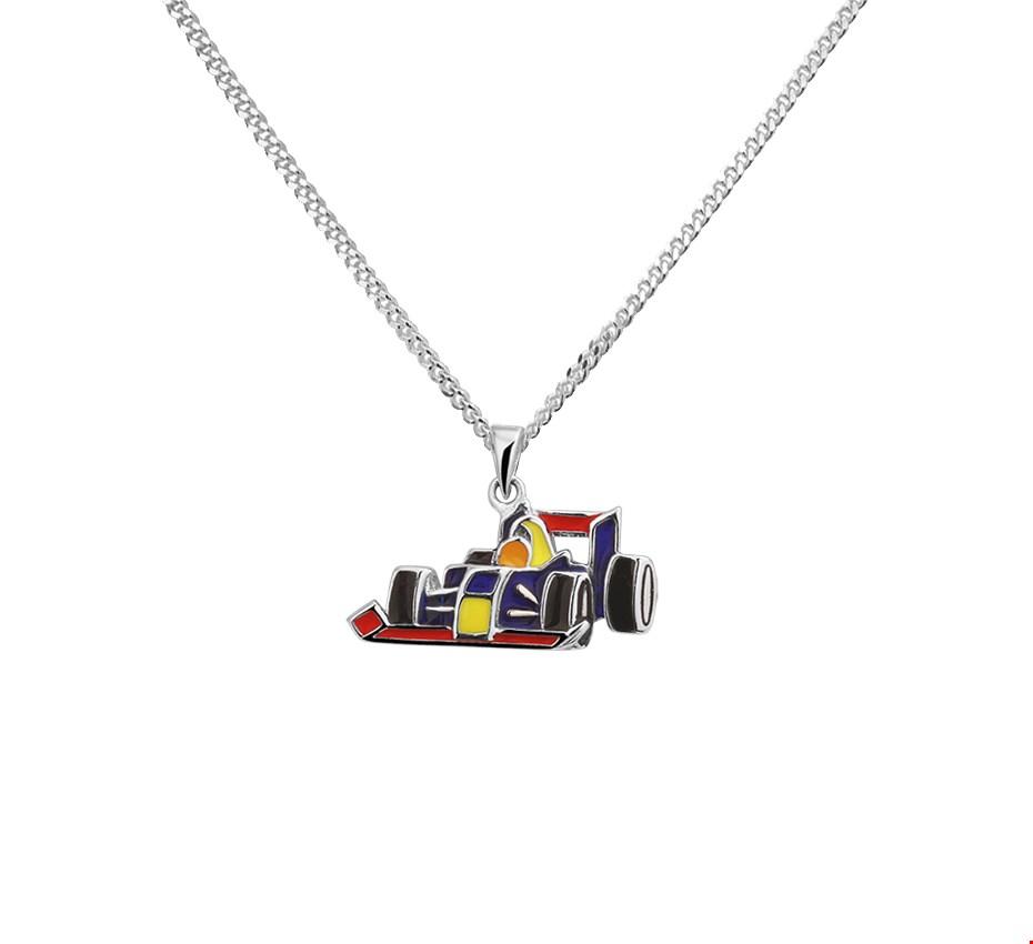 The Kids Jewelry Collection Ketting Formule 1 1,4 mm 36 + 4 cm - Zilver Gerhodineerd