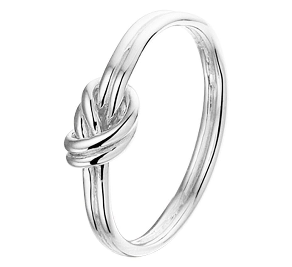 TFT Ring Knoop Zilver Gerhodineerd