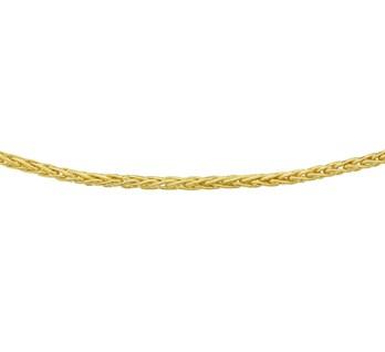 Zilgold Collier goud met zilveren kern Vossestaart 3,0 mm 45 cm