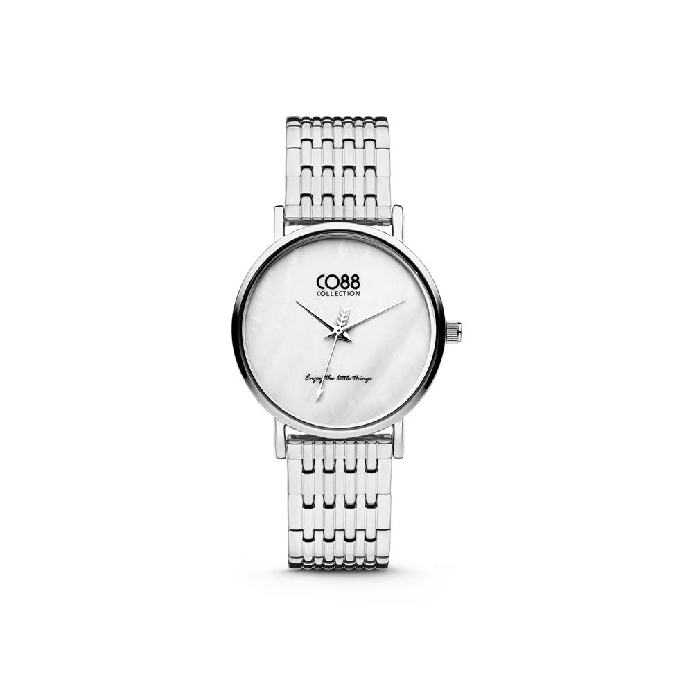 CO88 Collection 8CW 10066 Horloge - Stalen band - zilverkleurig - Ø 32 mm