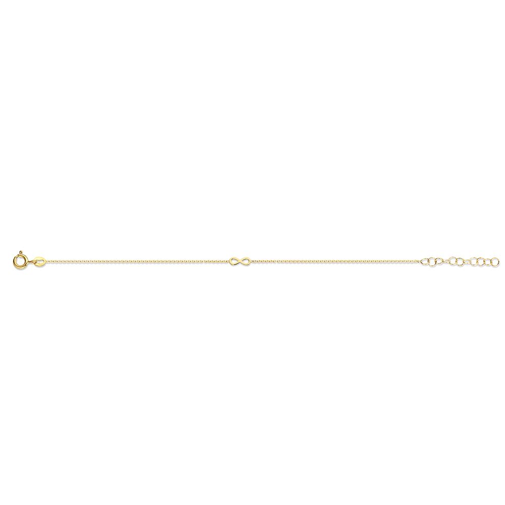 New Bling 9NB 0333 Zilveren armband Open infinity 16,5 + 3 cm Goudkleurig