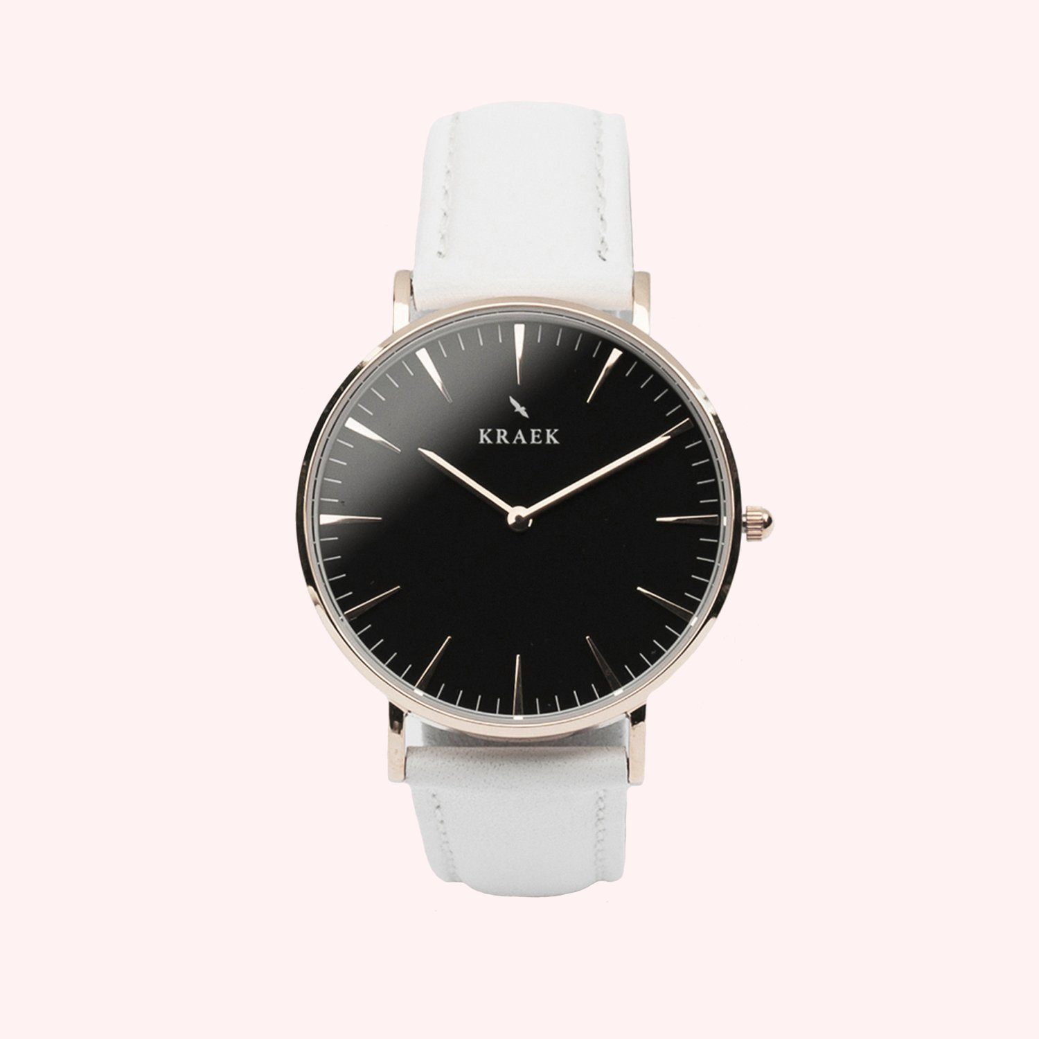 KRAEK Swift | Rose Gold | White 36 mm Dameshorloge