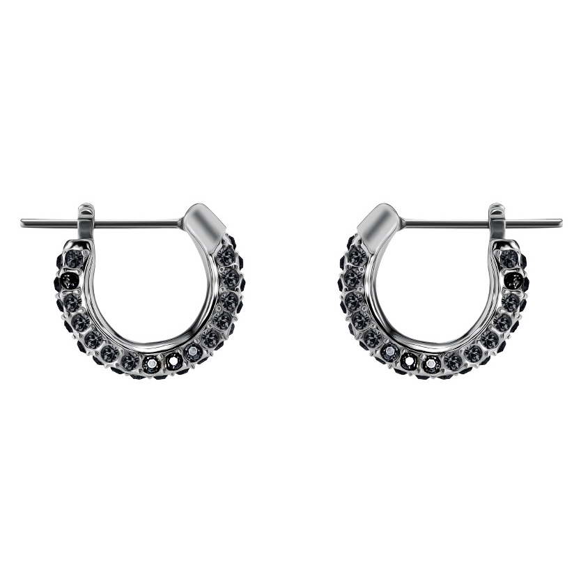 Swarovski 5446023 Oorbellen Stone Small zilverkleurig-zwart