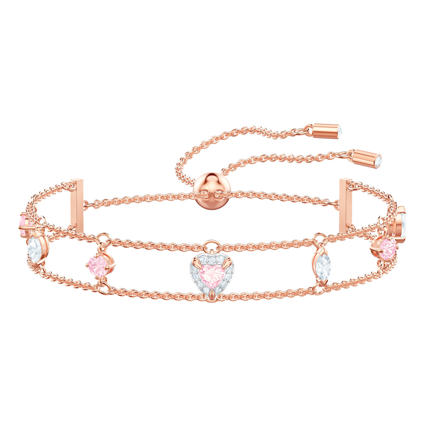 Swarovski 5446304 Armband One rosekleurig-multicolored