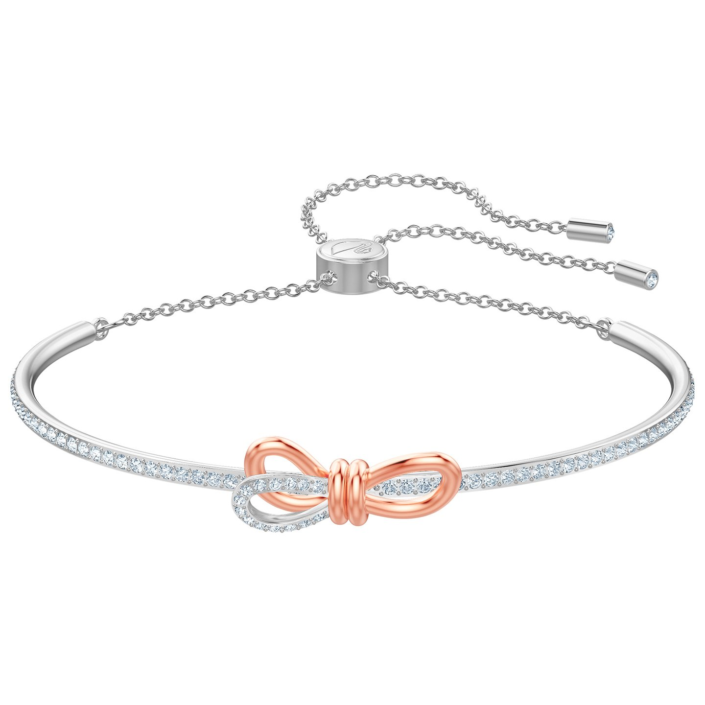 Swarovski 5447079 Armband Lifelong Bow bangle rose- en zilverkleurig