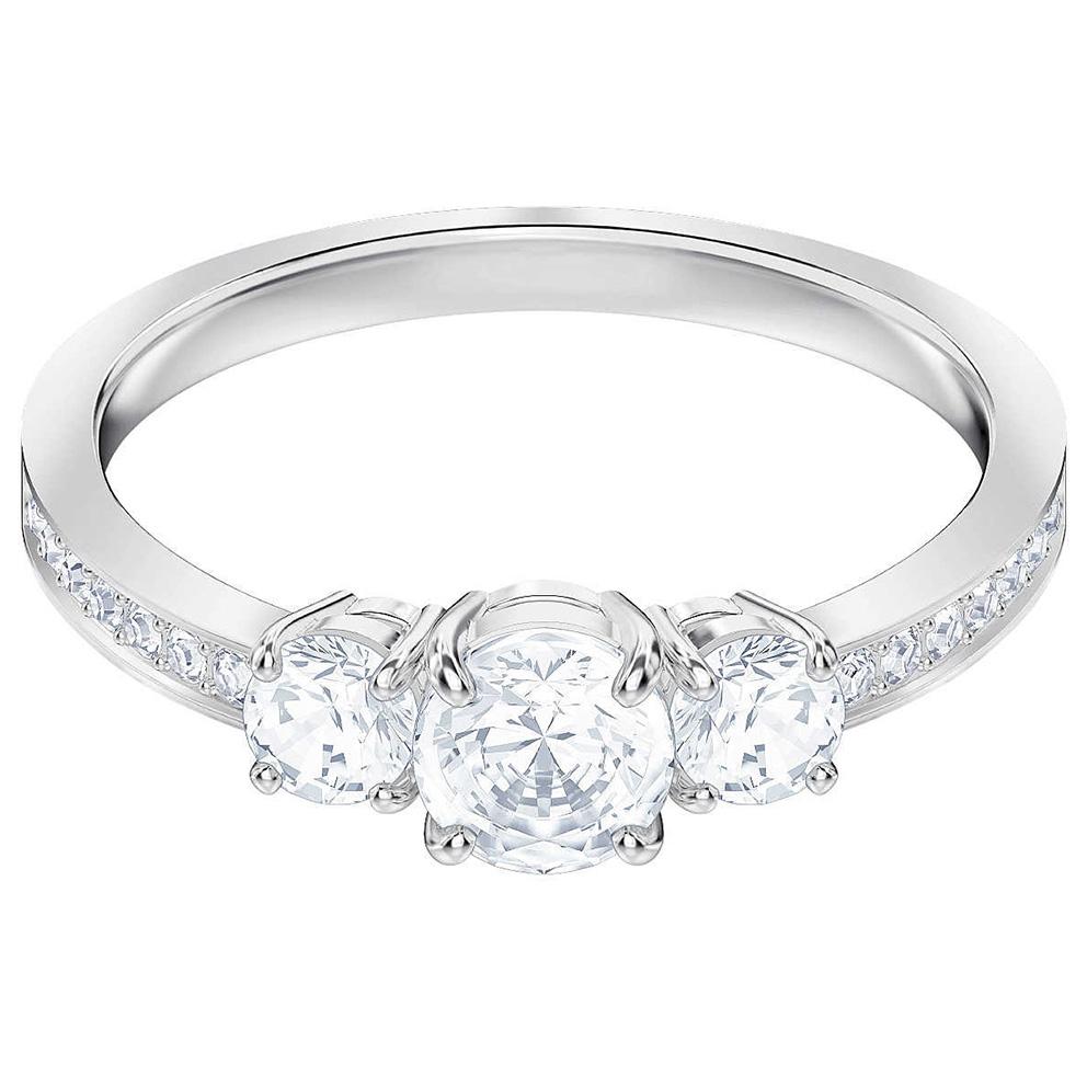 Swarovski Ring 5448872 Attract Trilogy zilverkleurig Maat 50