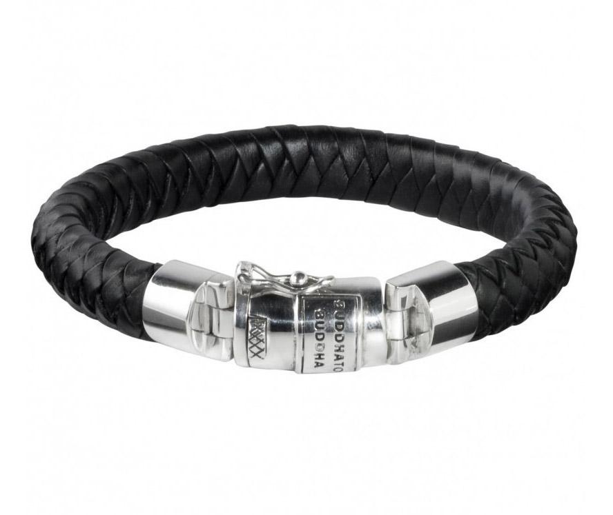 Buddha to Buddha 544BL Armband Ben Leather Black Medium (G) 23 cm