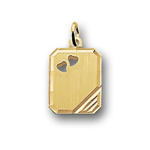 Huiscollectie 4006004 Gouden graveerplaat rechthoek
