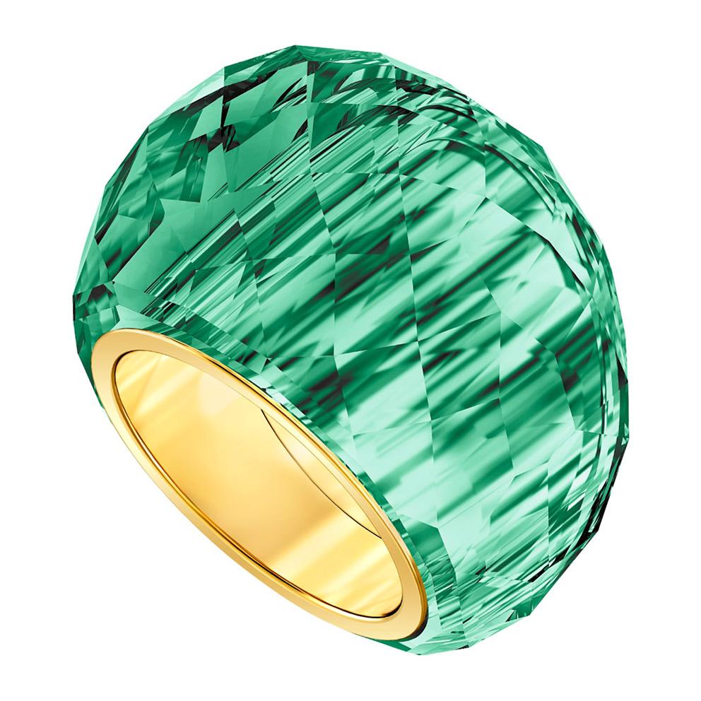 Swarovski 5474365 Ring Nirvana groen-goudkleurig Maat 58