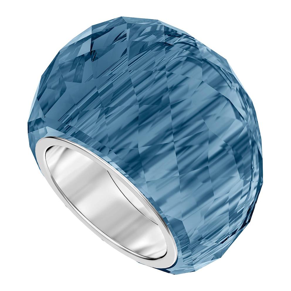 Swarovski 5474372 Ring Nirvana blauw-zilverkleurig Maat 58
