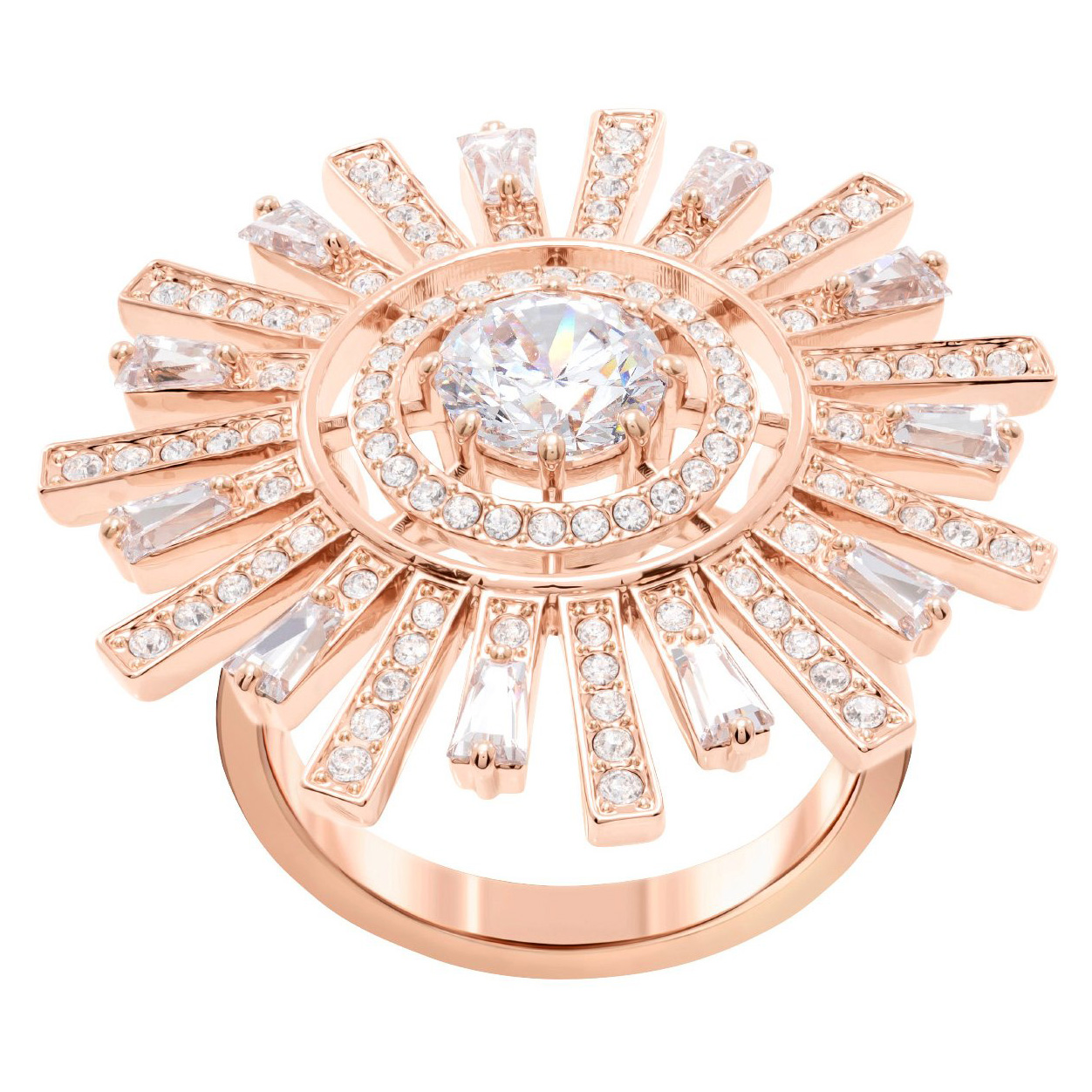 Swarovski 5474920 Ring Sunshine rosekleurig Maat 58