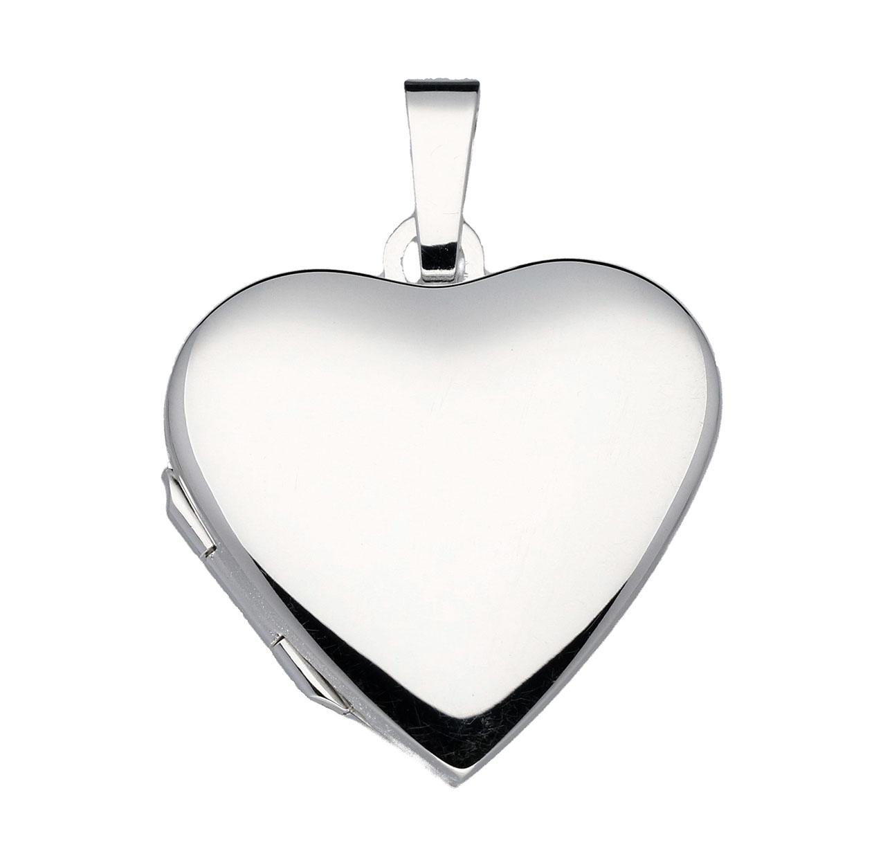 Best Basics 145.0062.00 Zilveren Hanger Medaillon Hart 15 x 13 mm