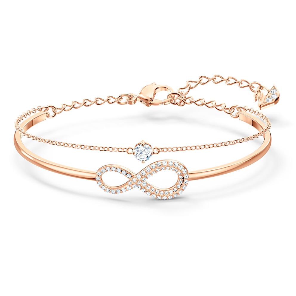 Swarovski 5518871 Armband Infinity rosekleurig (M) 18,5 cm