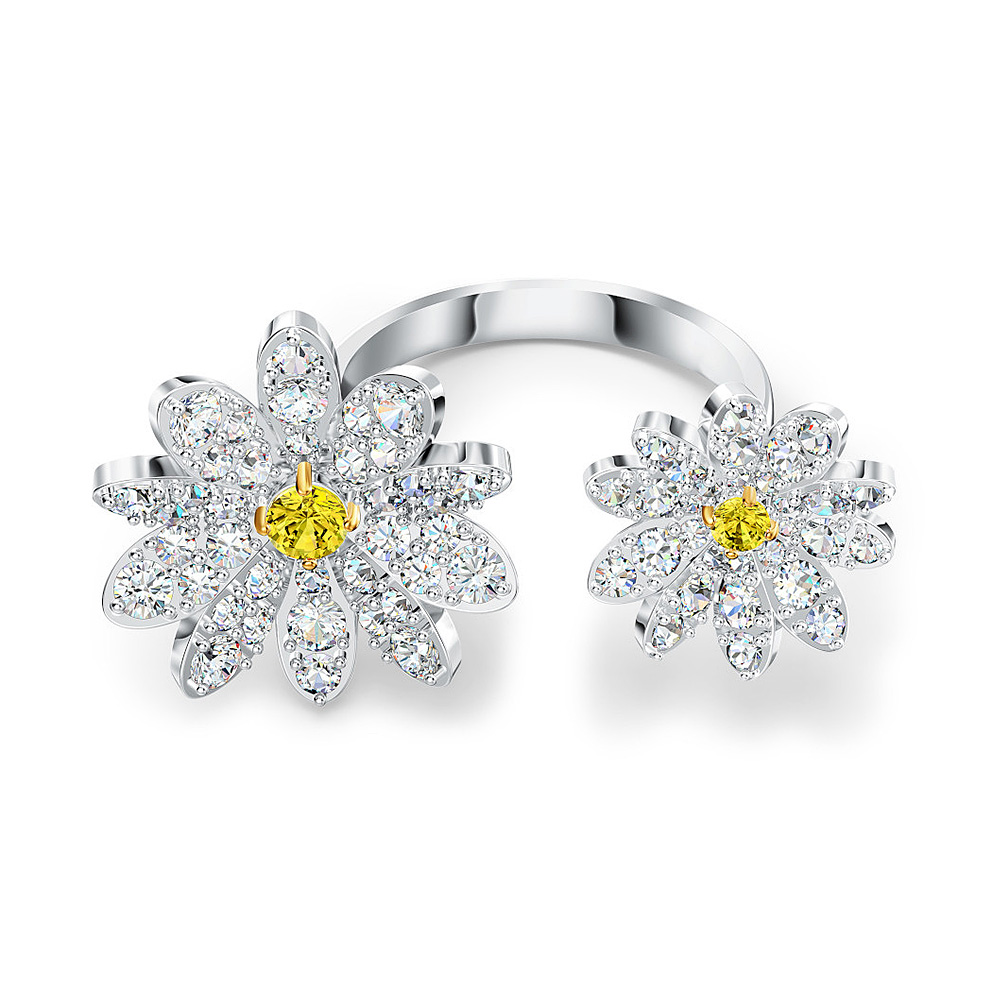 Swarovski 5534948 Ring Eternal Flower Yellow Maat 52