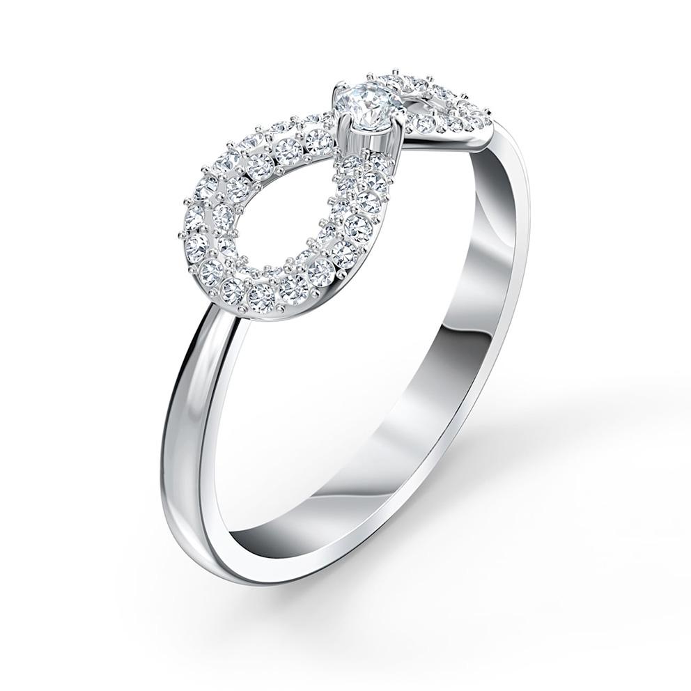 Swarovski 5535401 Ring Infinity zilverkleurig Maat 58