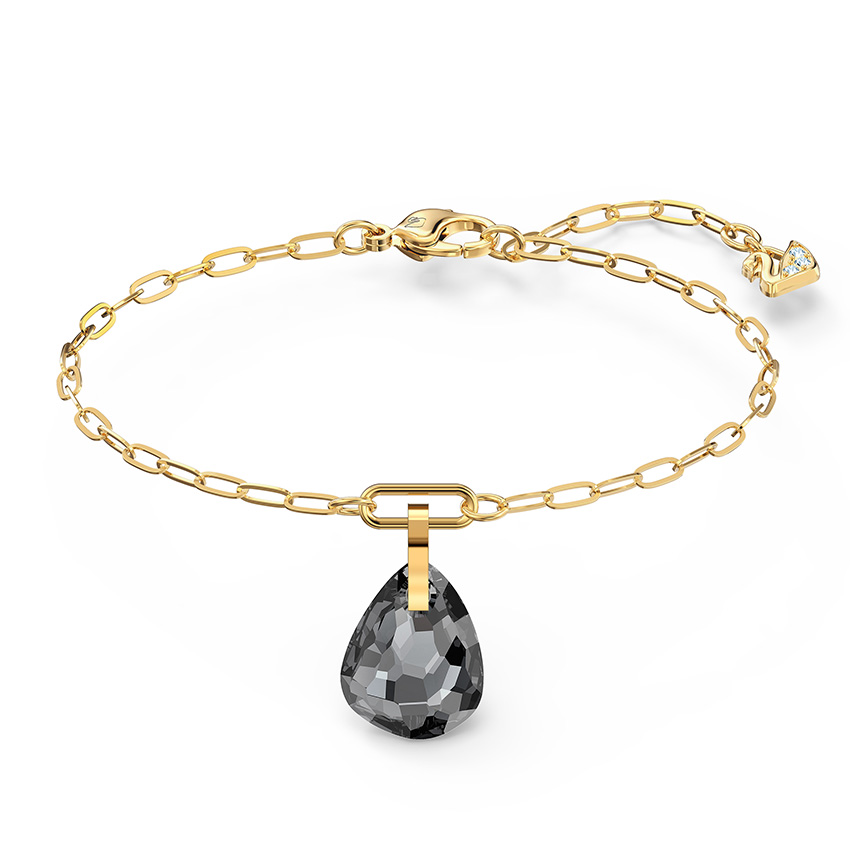 Swarovski 5566149 Armband T Bar goudkleurig grijs 17 19 cm