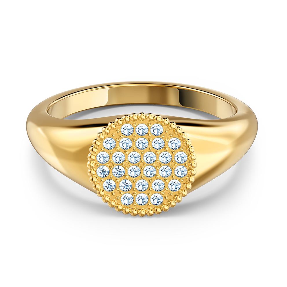 Swarovski 5567527 Ring Ginger Signet goudkleurig-wit Maat 55