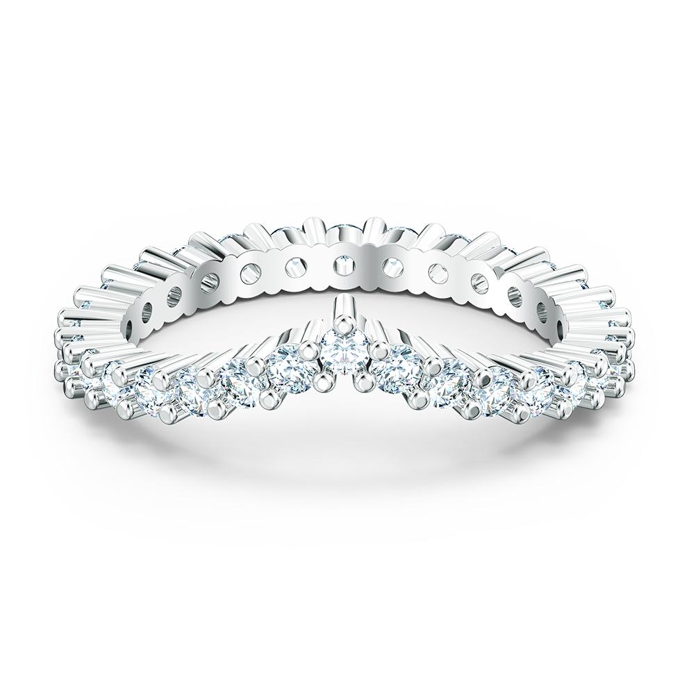 Swarovski 5572817 Ring Vittore-V zilverkleurig-wit Maat 58