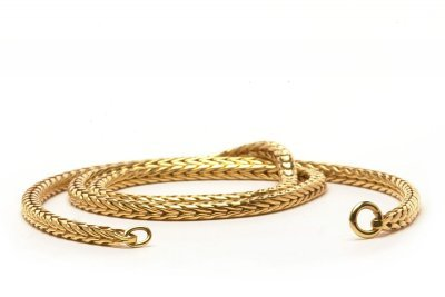 Trollbeads TAUNE-00003 Ketting Vossenstaart goud (zonder slotje) 40 cm