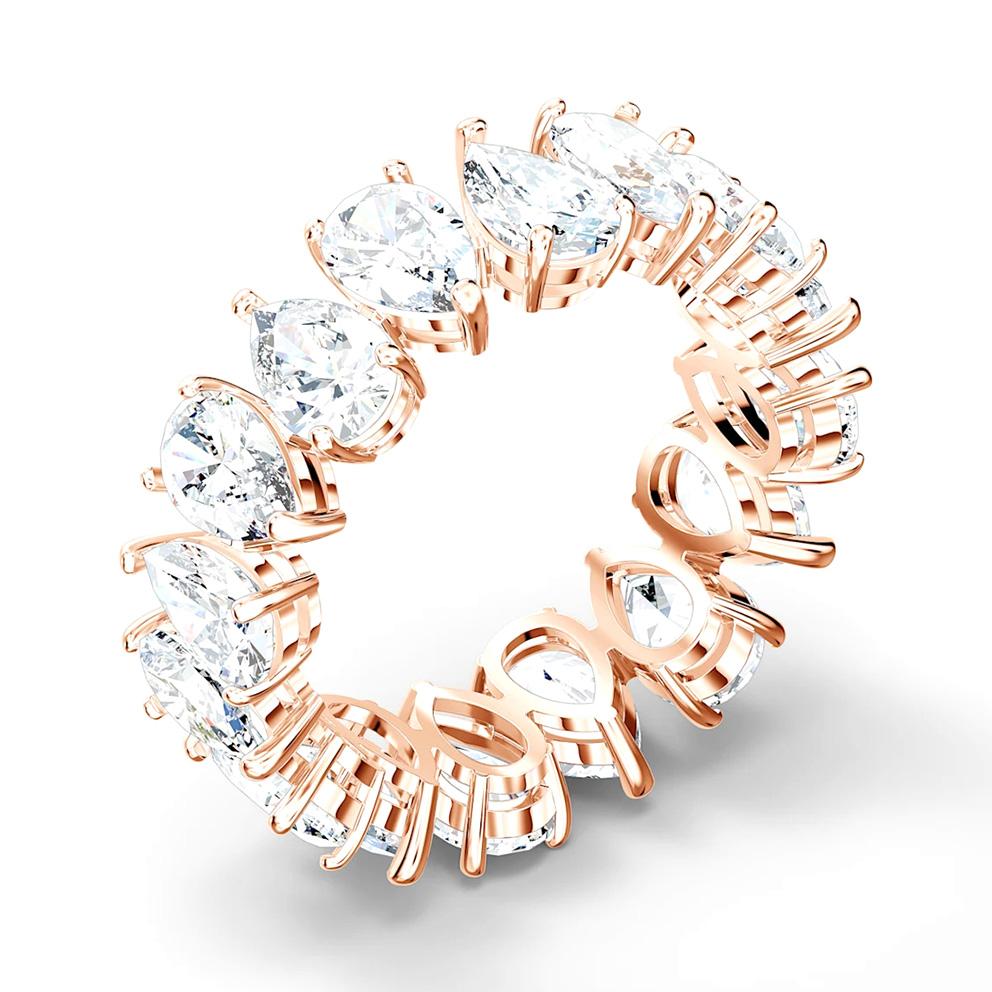 Swarovski 5586161 Ring Vittore Pear rosekleurig-wit Maat 58