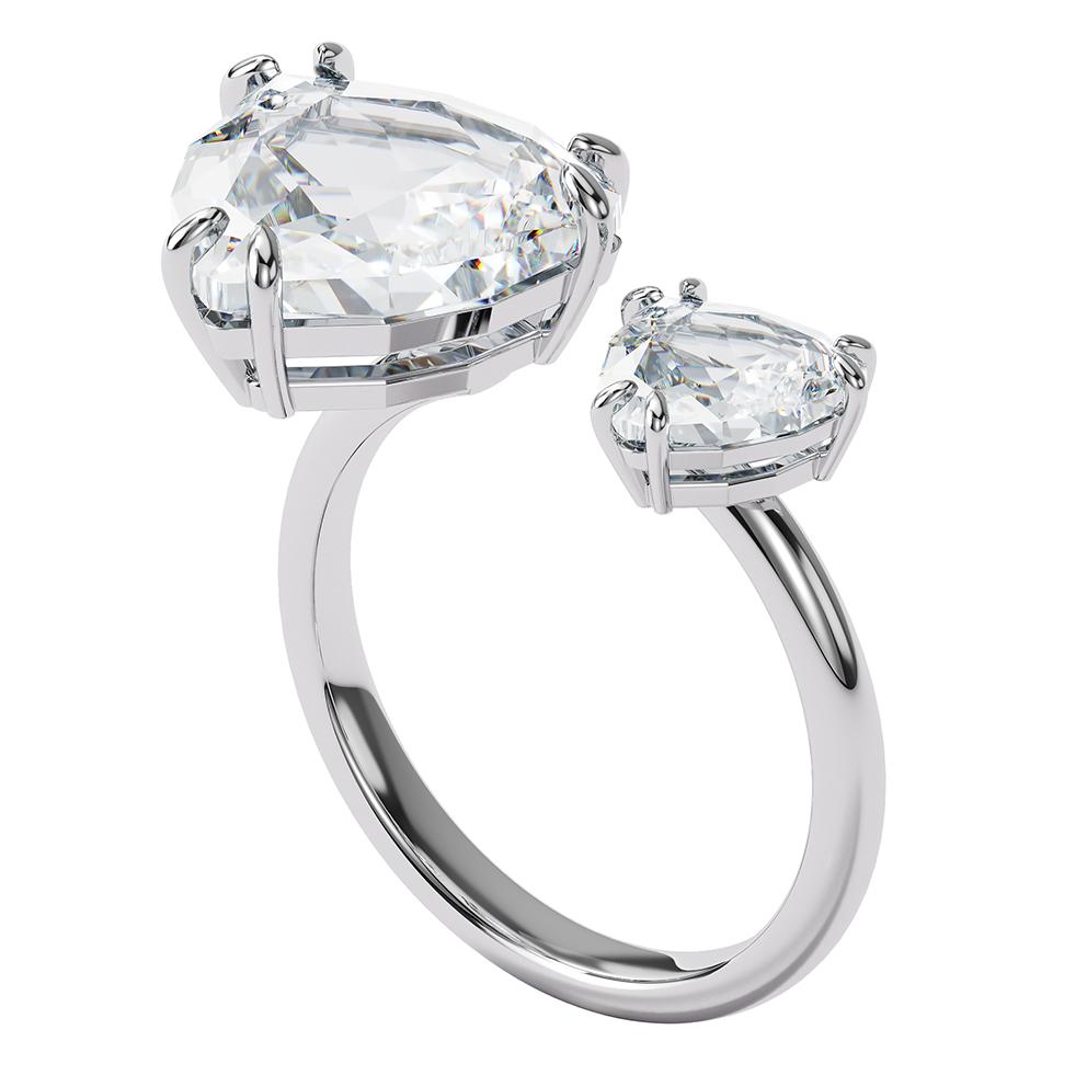 Swarovski 5602847 Ring Mesmera Cocktail Kristal Triangel zilverkleurig Maat 55