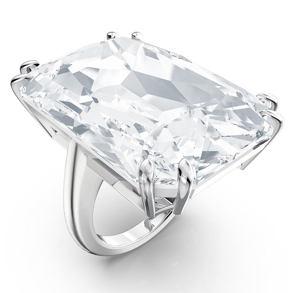 Swarovski 5610370 Ring Mesmera Cocktail Oversized Kristal zilverkleurig Maat 58