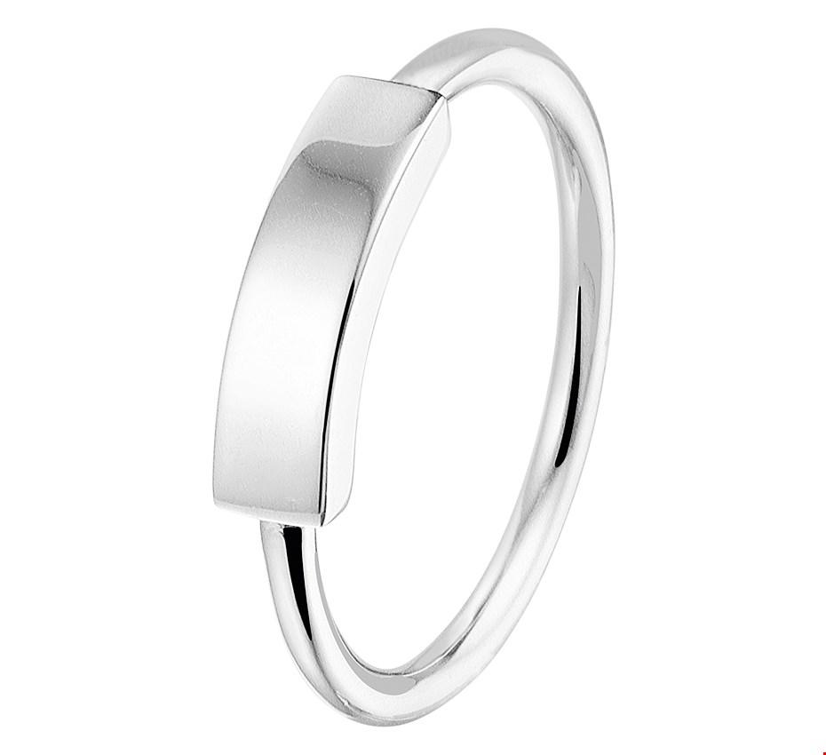 TFT Ring Balkje Zilver Gerhodineerd