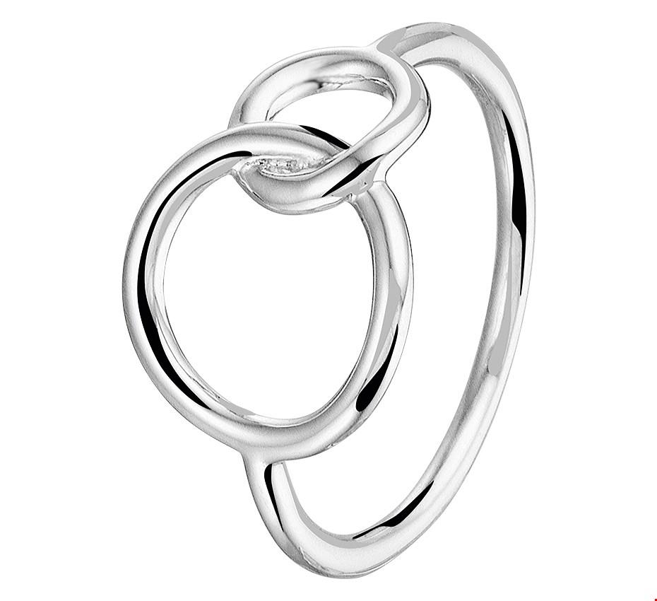 TFT Ring Rondjes Zilver Gerhodineerd