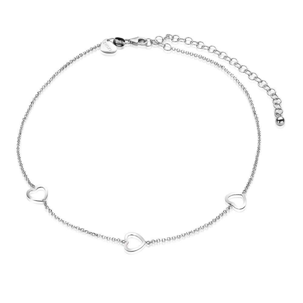 Zinzi ZICHOK1188 Zilveren choker collier hart 32 10 cm