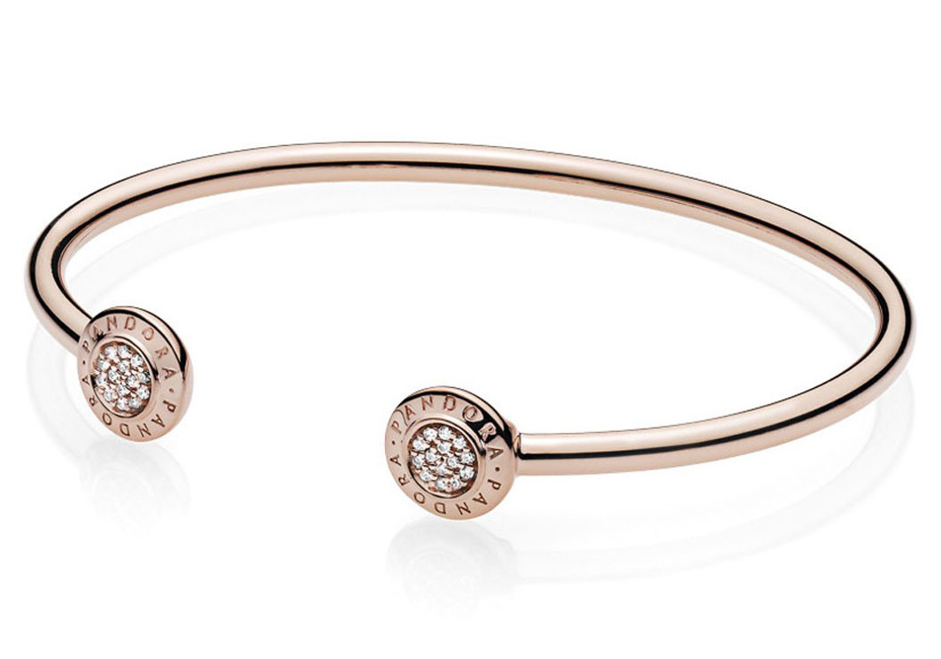 Pandora Rose Armband Open Bangle Signature 580528CZ
