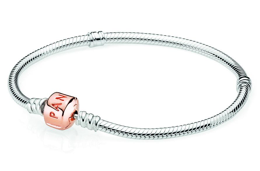 Pandora Rose 580702 Armband zilver met rosékleurige sluiting 19 cm
