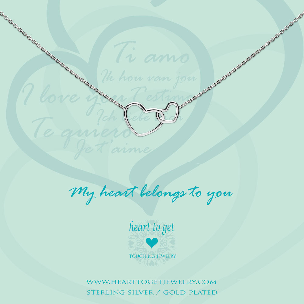 Heart to get N244ENH15S my heart belongs to you ketting zilver