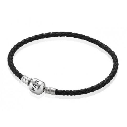 Pandora Armband leder zwart 20,5 cm 590705CBK-S3