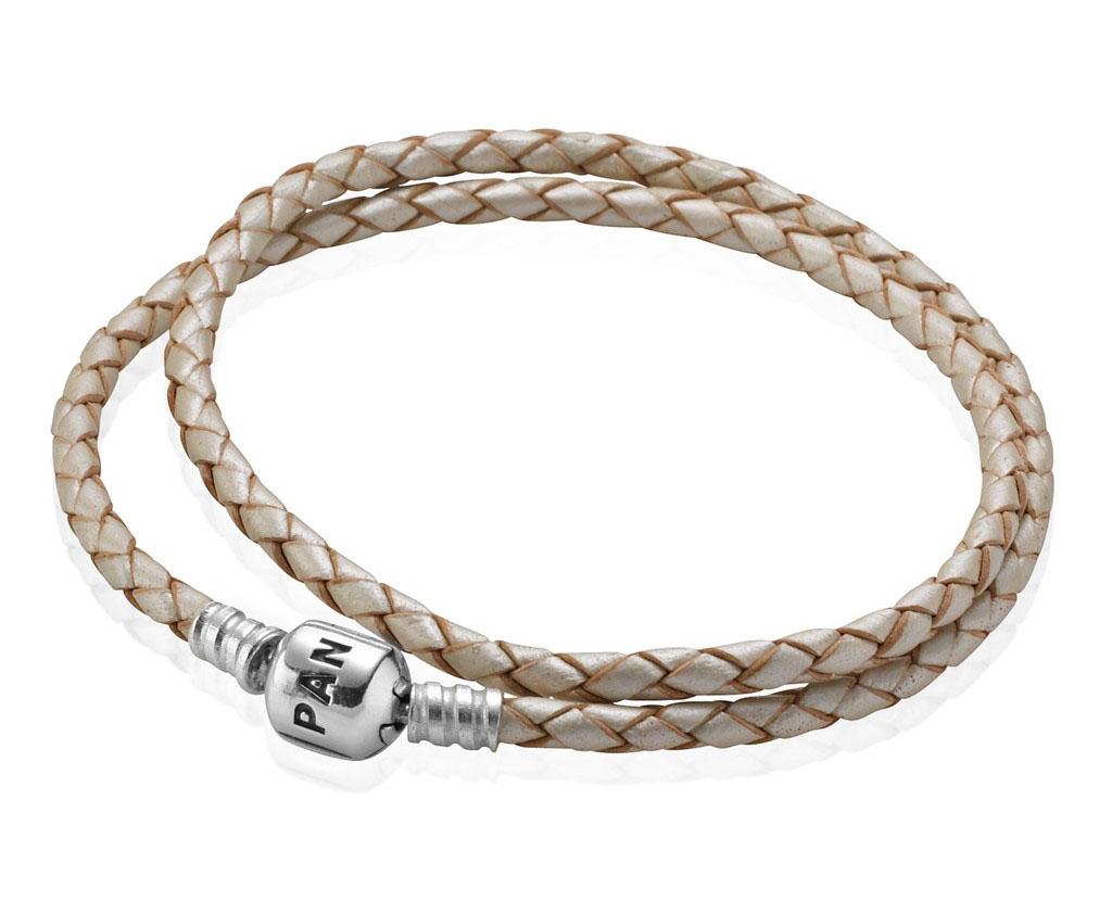 Pandora Armband Leder Beige 38cm 590705CPL-D2