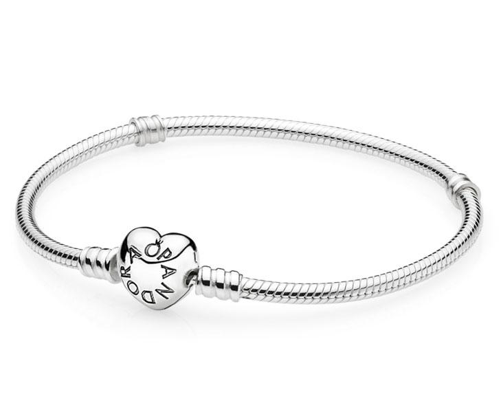 Pandora armband zilver 'Moments' hartsluiting 18 cm 590719
