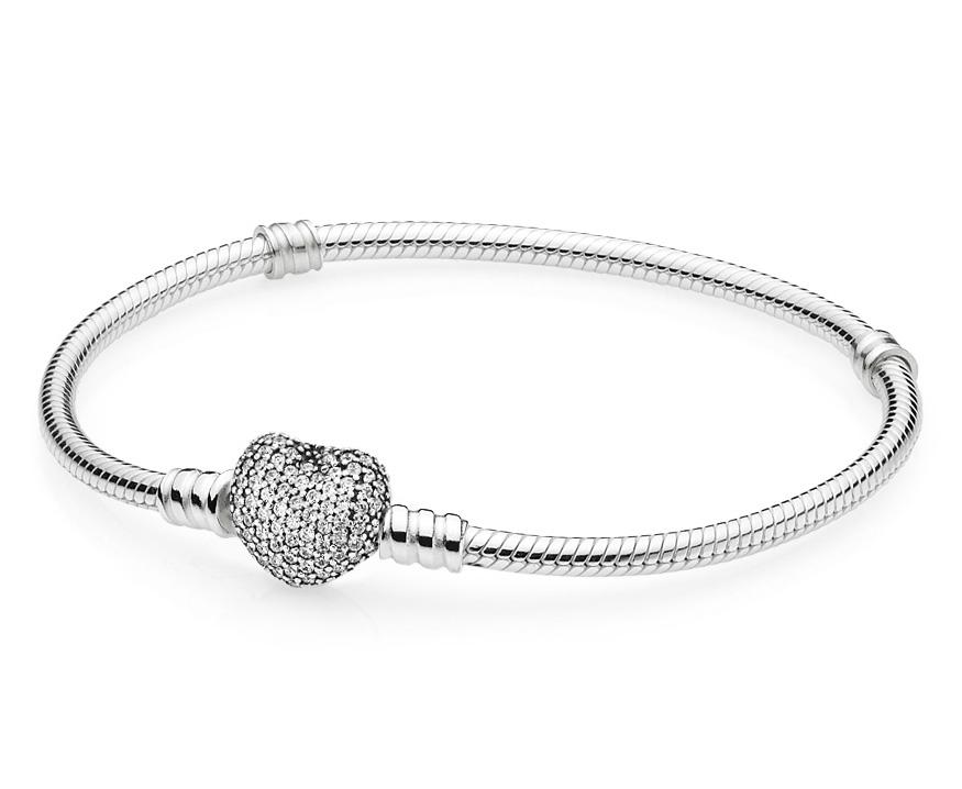 Pandora Armband zilver met Hartsluiting 17 cm 590727CZ