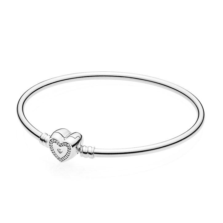 Pandora Armband bangle zilver 'Wishful Heart Moments' 590729CZ-21