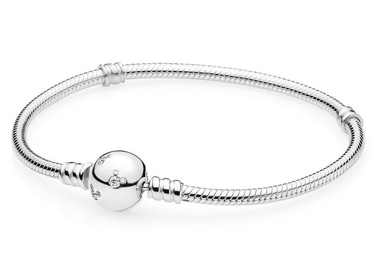 Pandora Disney 590731CZ Armband Sparkling Mickey Clasp zilver 21 cm