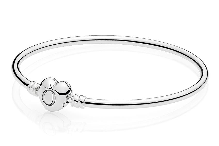 Pandora Armband Bangle zilver Pandora Logo 19 cm 596268