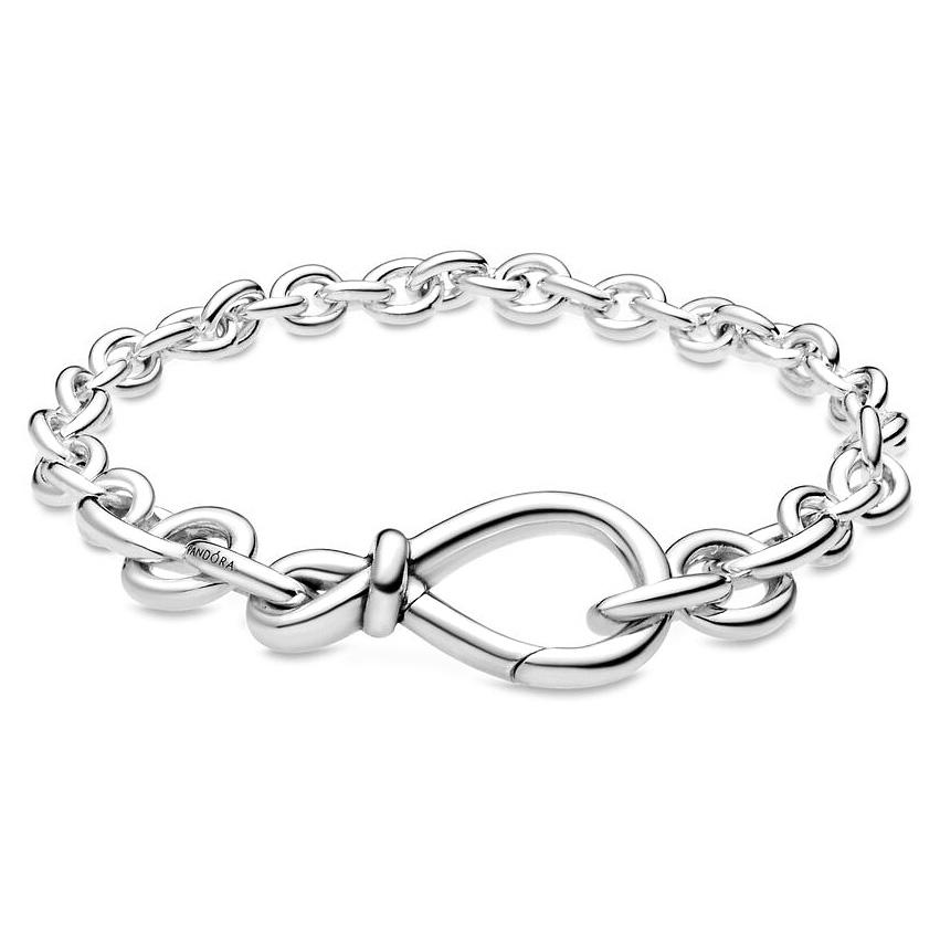 Pandora 598911C00-2 Armband Chunky Infinity Knot zilver 18 cm