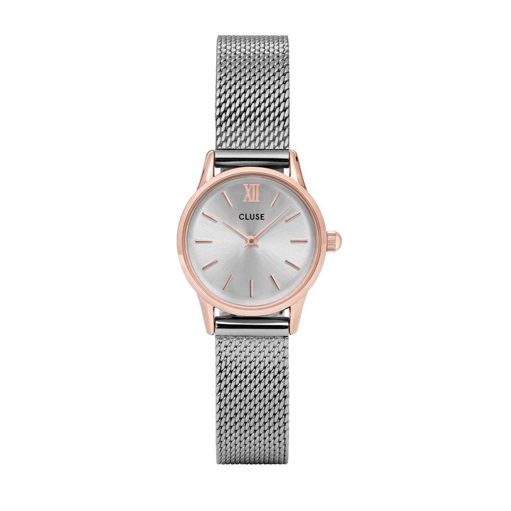 CLUSE CW0101206004 Horloge La Vedette Mesh rose-en zilverkleurig