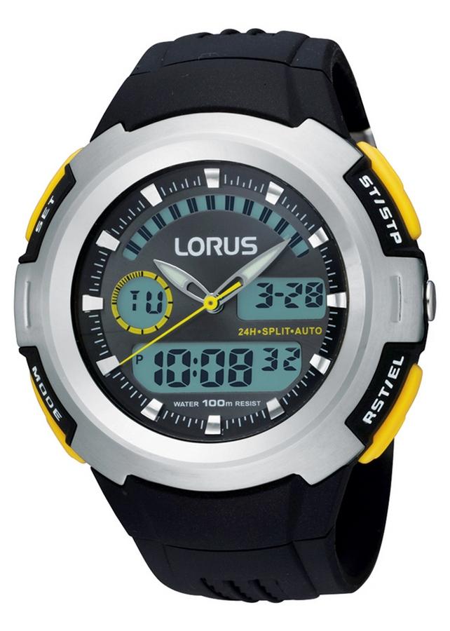 Lorus Digitaal Herenhorloge Zwart R2323DX9