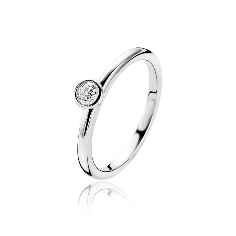 Zinzi ZIR1177 Ring zilver met zirkonia Maat 52