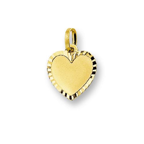 Huiscollectie 4006161 Gouden graveerplaat hartvormig
